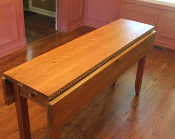 Solid Cherry Drop Leaf Table (One in stock and ready to ship)