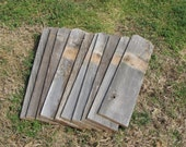 Reclaimed Old Fence Wood Boards With Dog Ears - 5 Fence Boards - 24 Inch Length - Weathered Barn Wood Planks - Great For Rustic Crafting!