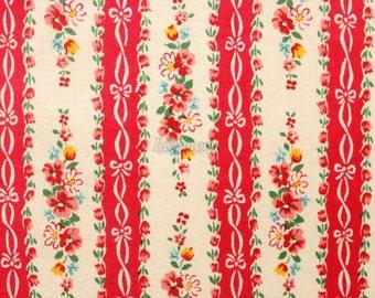 Ribbon stripe - Red by Atsuko Matsuyama - Printed in Japan