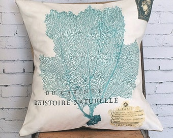 Pillow Cover Beach Turquoise Sea Fan