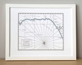 Los Angeles County, Malibu to Venice, Letterpress Printed Map