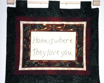 Fabric Wall Hanging - Home Is Where They Love You Panel