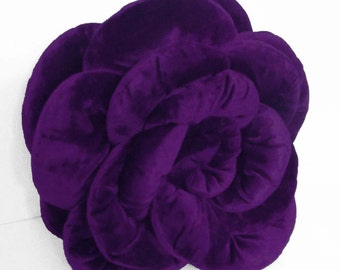 Purple Pillow/Rose/Velvet Pillow/Personlized Gift/For her/Special Occasion/Home Decor/Home Gifts/birthday gifts/handmade/housewarming gifts