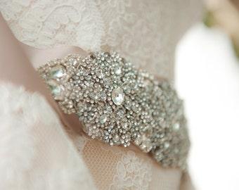Wedding Dress Crystal Belt Embellished Sash Belt
