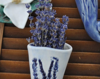 Lavender wall cuff for dried lavender