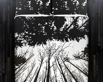 woodland forest branch winter tree Duvet Cover Bedding Queen Size King Twin Blanket Sheet Full Double Comforter Toddler Daybed Kid Teen Dorm