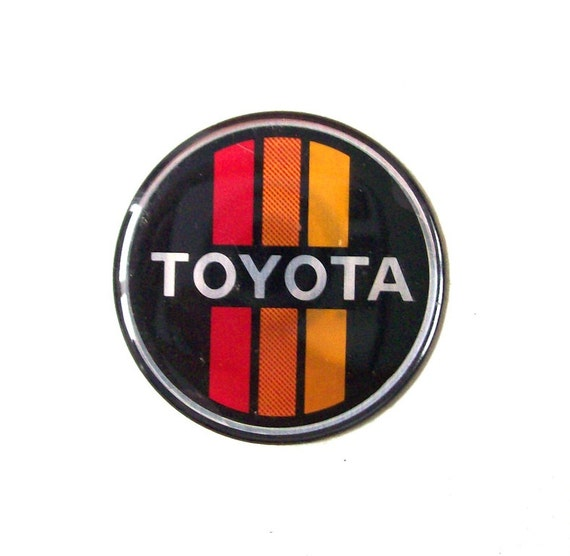 Toyota Of Orange >> vintage toyota car emblem sticker auto by RecycleBuyVintage