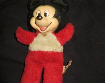 vintage rare  disney products  Mickey Mouse rubber face  Stuffed with shredded clippings, ground nutshells
