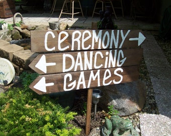 ceremony sign / reception sign / rustic wedding signs / wooden signs / handpainted signs /beach wedding / country wedding / wedding signage