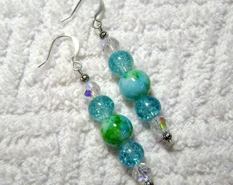 Ocean Waves - Earth - Earthy Earrings - Earrings - Jewelry - Ocean - E71