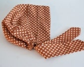 Store Closing! Last One Available --  Vintage Like Snood -- Headcovering -- Golden Brown Polkadot snood Head Cover tichel