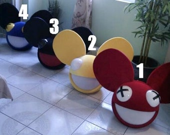 New Mouse Head Costume w/12 color & strobe modes remote inspired by a deadmau5 head cosplay rave