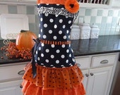 The Witch Is In  ~ READY TO SHIP Halloween Apron - Fall Apron ~4RetroSisters