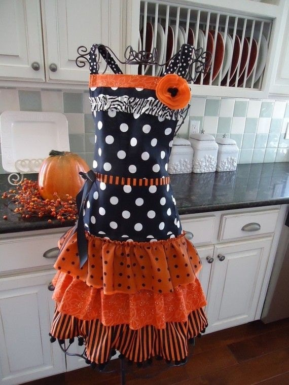 The Witch Is In  ~ Halloween Apron - Fall Apron ~4RetroSisters