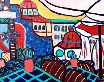 Krakow Jazz Cafe- original painting by Katie Jurkiewicz