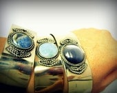 Bohemian Bangle, Boho chic jewelry, hippie style, stackable bangles,Silver Cuff
