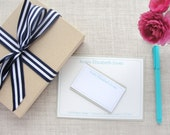 Ladies Box Stationery Set | Personalized Note Cards | Custom Colors