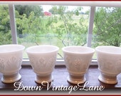 4 Vintage Milk Glass Ice Cream or Fruit Cups