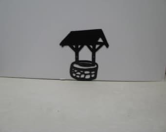 Wishing Well 001 Metal Wall Yard Art Silhouette