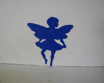 Fairy B Metal Wall Yard Art Silhouette