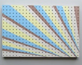 pegboard - functional artwork – Ribbons– acrylic on pegboard - home décor - organizer