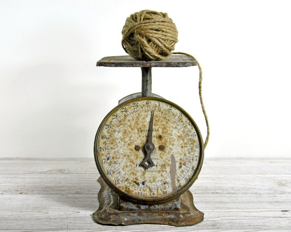 Vintage rustic kitchen scale industrial decor by for Rustic kitchen scale