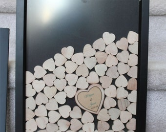 NEW 892 WEDDING GUEST BOOK FRAME WITH HEARTS | wedding guestbook