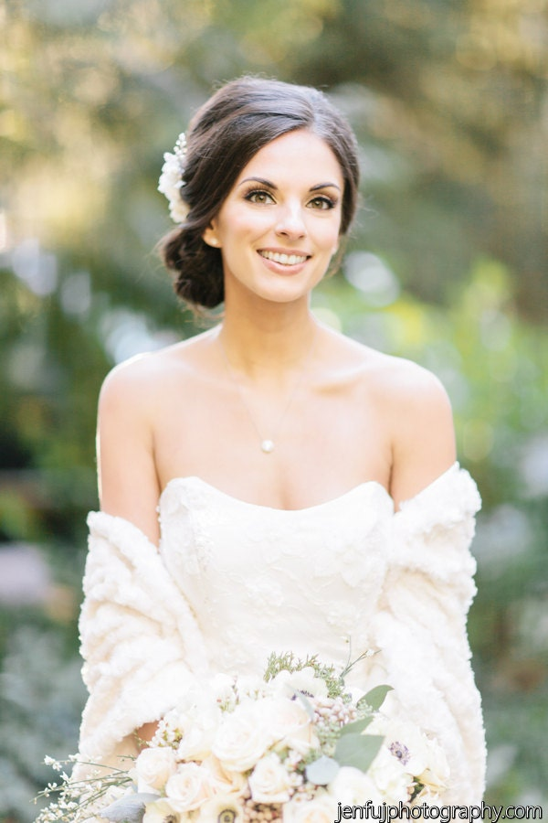 Faux Fur Bridal Cover Up Bridal Stole Wedding By