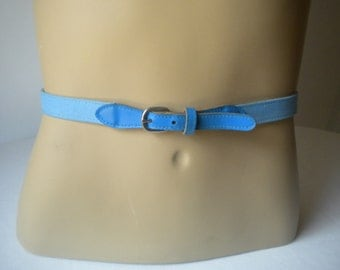 Vintage Blue Cotton Belt
