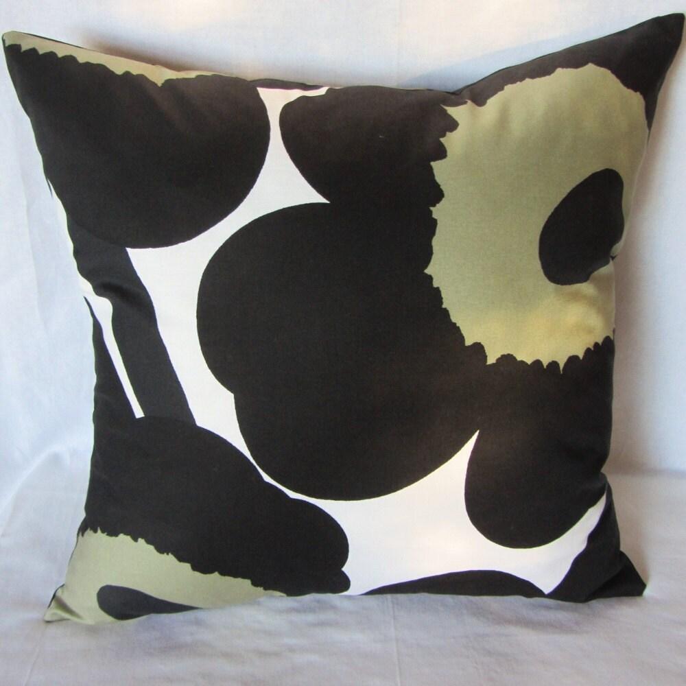 Black Unikko pillow cover in authentic Marimekko fabric from