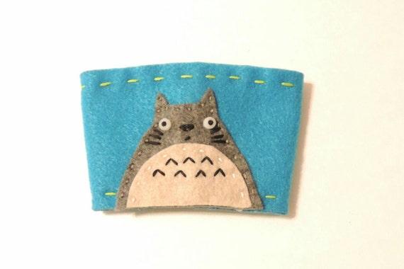 Totoro felt coffee cozy