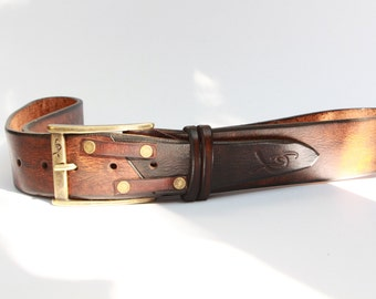 Crafted Belt, Accessories for Father, Unique Leather, Brown Belt, Quality Leather, Leather Belt, Leather Belt with Buckle, Leather Belts