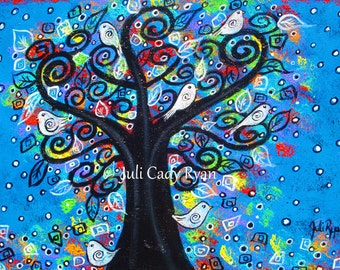 The Peace Tree Original, Acrylic on Stretched Canvas 14 x 11