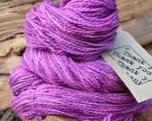 100g Handpainted Bluefaced Leicester Sock Yarn - Shades of Hot Pink (Batch 355)