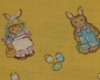 Easter Clothing Girls Romper Jumper New Size 4 5 6 Yellow Bunny Rabbit Handmade Childrens Cotton Never Worn 1 Piece Nineties Easter Gift