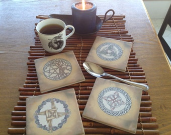 Set of 4 Magical Symbols Coasters