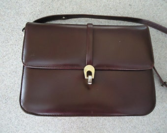 Vintage Dark Brown/Maroon Leather Purse