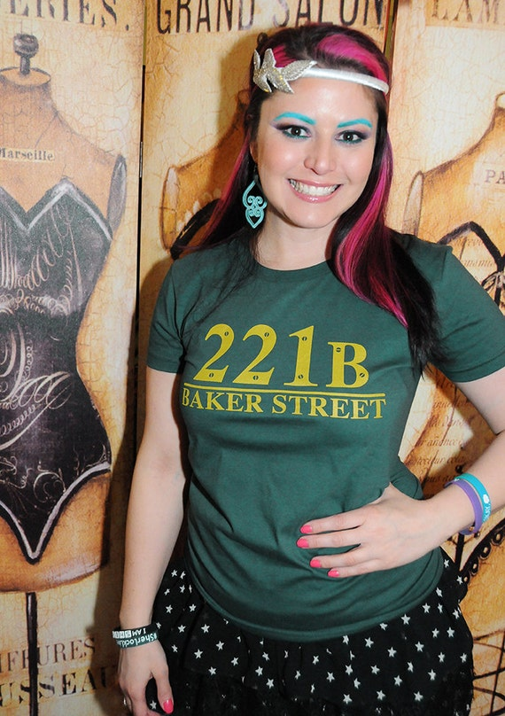 221B T-shirt by The Colorful Geek