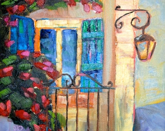 18 x 24 Giclee of The Original Painting French Window by Rebecca Croft Studios