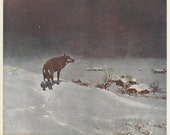 "1920's ""THE LONE WOLF"" Print by Victor Kowalski - Rare, Old and Original"