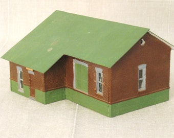 Vintage Train Model Building, Architectural Model, Architecture, Toy Building, Miniature Model Building, Miniature