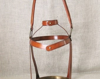 Cage , Leather Cage , Steampunk , Hanging Cage , Leather , Art Supplies , Assemblage Supplies , Sculptural , Odd and Unusual , Parts
