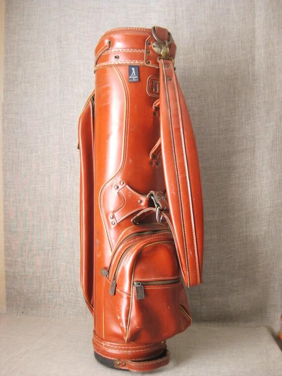 golf bag vintage ben hogan golf bag by amf leather look