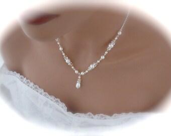 Ivory Pearl Necklace wedding jewelry bridesmaid necklace pearl jewelry ivory