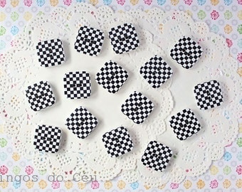 15 pcs wood buttons - sewing and scrapbooking projects - 24mm x 24mm - ready to ship