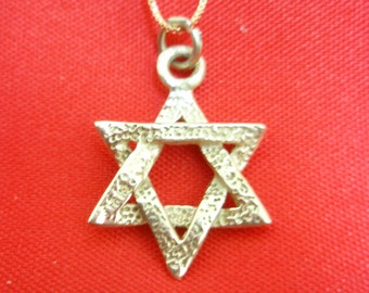 Star of David Magen David Pendant 14k Yellow Gold By Delini 3.1 Gram Two Sides