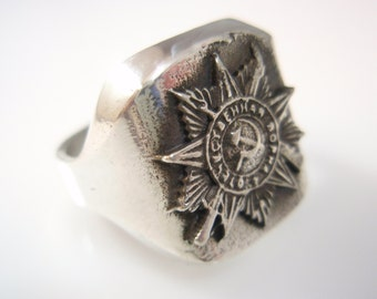 Victory Day 9 may Russia Germany  sterling silver 925 ring