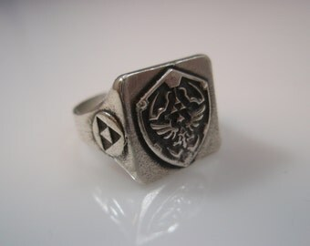 The Legend of Zelda Ring Solid Sterling Silver 925