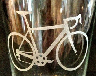 Road Bicycle Pint Glass