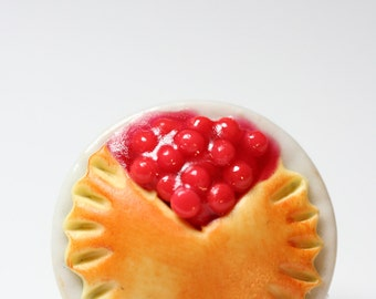 Miniature Cherry Pie Pin/Brooch